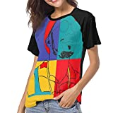 ANNAA NAME Women's Street Casual Blouse Funny Anderson-Paak T Shirt Short Sleeve Tees Black