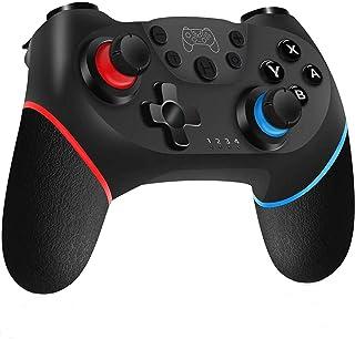YUES Mando Inalámbrico para Nintendo Switch Pro/Lite, Gamepad con Doble Choque / Motor de Vibración / Giroscopio de 6 Ejes / Turbo ajustable / Joystick Remoto, negro