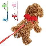Yunso Arnés ajustable para perros, alas de ángel, nailon, suave, cómodo, fácil de controlar, arnés para perros pequeños y medianos, cachorros, gatos, mascotas (M, rojo)