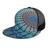 Gorra de béisbol Bohemia Mandala India Home Decor Unisex 3D Hip Hop Snapback Flat Brim Hat Gorras...