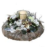 FRI-Collection Adventskranz mit Teelichtgläschen und Kerze 22 cm