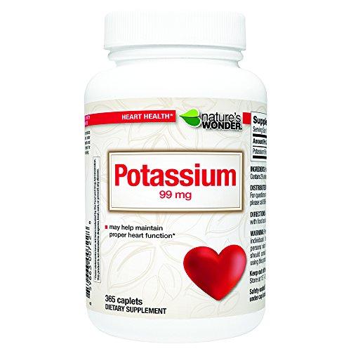 Nature's Wonder Potassium 99mg Tablets, 365 Count