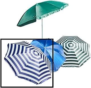 Blau-Wei/ß Gestreifter Strandschirm Gartenschirm Marktschirm mit Kippbarer Greenbay 160cm Sonnenschirm Strand