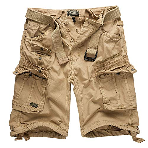 Geographical Norway Cargo Shorts Hunter mit UD Bandana Beige - XL -