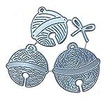 WEDFTGF - Fustelle per decorazioni pasquali, a forma di campana, in metallo, per scrapbooking, album fai da te, timbri, biglietti di carta, goffratura, metallo, per realizzare biglietti