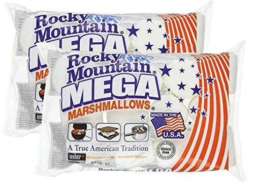 Rocky Mountain Marshmallows Mega paquete de 2x340g, dulces tradicionales americanos para asar en la hoguera, a la parrilla o al horno, 2x340g