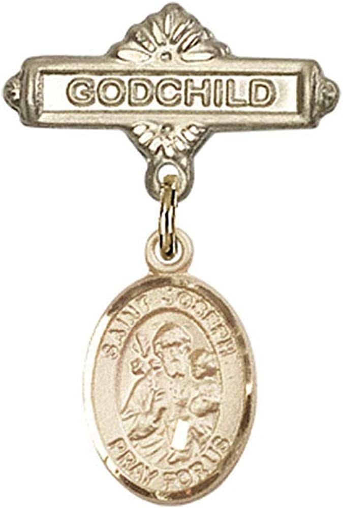 Baby Finally resale start Max 73% OFF Badge 14kt Gold badge Charm St. Joseph with