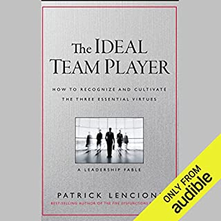 The Ideal Team Player     How to Recognize and Cultivate the Three Essential Virtues: A Leadership Fable              By:                                                                                                                                 Patrick M. Lencioni                               Narrated by:                                                                                                                                 Stephen Hoye                      Length: 5 hrs and 3 mins     3,237 ratings     Overall 4.6