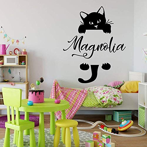 Colgante gato vinilo dormitorio sala de juegos jardín de infantes aula con calcomanías de pared de gato