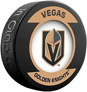 Sher-wood Retro Team Logo Souvenir Hockey Puck - Golden Knights