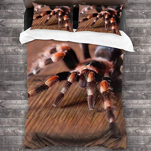 LiBei 3 Teilig Bettwäsche Set,Süße Spinne- inkl.1 Bettbezug und 2 Kopfkissenbezüge(Einzel 135x210cm)