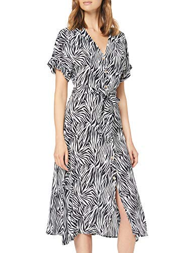 New Look Zebra, Vestito Donna, Black (Black Pattern 9), Small