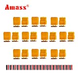 10 Pairs Amass XT60 XT-60 Male Female Bullet Connectors Plugs with 20 Pairs Heat Shrink Tube for RC Lipo Battery