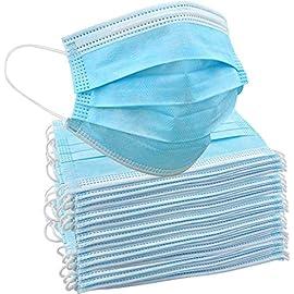 50-Einweg-Gesichtsmasken-Schtzende-Mund-Nasen-Bedeckung-mit-3-lagigem-Mundschutz-elastischem-Gummizug-und-bequemem-Universaldesign-fr-Erwachsene-und-Kinder