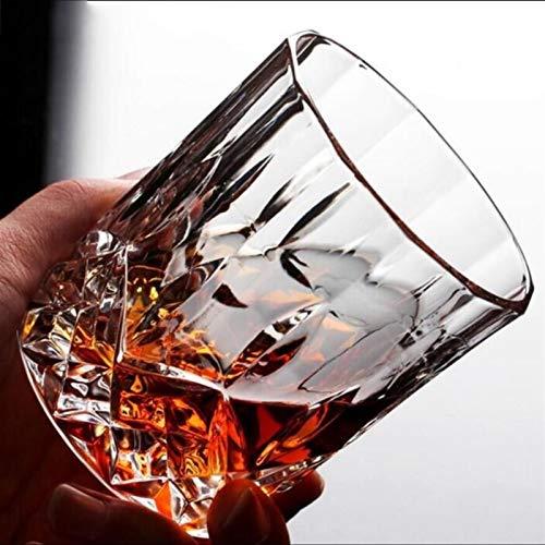 TSP Accesorios para vino Copa de whisky de cristal cuadrado para el hogar, bar, cerveza, agua y fiesta, hotel, boda, vasos de regalo (color: A 8 x 9,2 cm)