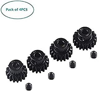 Yunique Espana 20-6Q5F-Q8OE 4 Piezas RC Pinion Gear Combo Set 16T 17T 18T 19T M1 5mm for Brushless Motor of 1:8 1/8 RC Car Off-Road