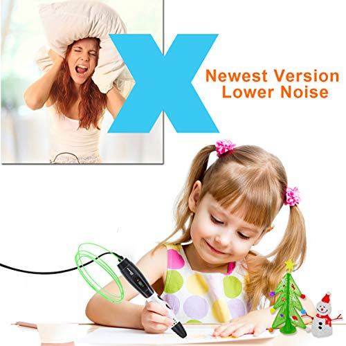 3D Stifte + PLA 16 Farben – 3D Stifte Set für Kinder mit PLA Farben 120 Fuß und 250 Schablonen eBook, Tipeye 06A 3D Pen als kreatives Geschenk für Erwachsene, Bastler zu kritzeleien, basteln, malen und 3D drücken - 5