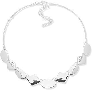 Nine West Collar de Mujer con Diseño tipo Sencillo Color Plata - Aleación con Acero Inoxidable - Joyería oficial