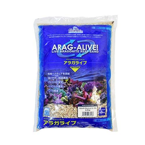 カミハタ アラガライブ フロリダクラッシュドコーラル バクテリア付海水用底砂 4.5kg