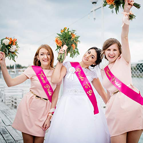 Naler 15 PCS Voile de mariée Bride to Be Enterrement de Vie de Jeune Fille Echarpe déguisement Enterrement de Vie de Jeune Fille Accessoires de fête de Nuit Mariage