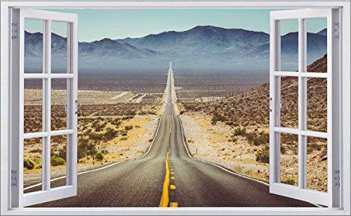 Highway Road Straße USA Route 66 Wandtattoo Wandsticker Wandaufkleber F0646 Größe 40 cm x 60 cm