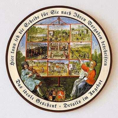 Bänkelsänger Tirol Bänkellieder Moritaten Schützenscheibe 55cm Wunschtext 52