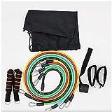 Bandas de resistencia de látex 11PCS / Set Crossfit Training Ejercicio Tubos de yoga Cuerda de tracción, expansor de goma Bandas elásticas Fitness