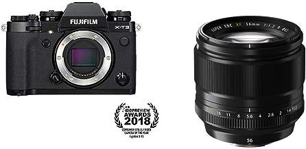 Fujifilm X-T3 Mirrorless Digital Camera (Body Only) - Black + Fujinon XF56mmF1.2 R