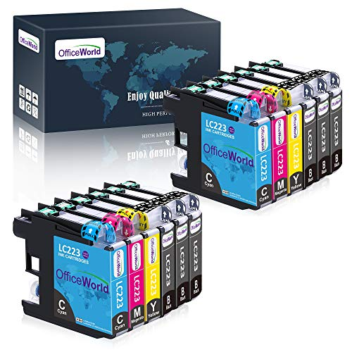 OfficeWorld LC223 Cartuchos de tinta Compatibles para Brother LC223 para Brother MFC-J480DW DCP-J562DW MFC-J5320DW MFC-J4420DW DCP-J4120DW MFC-J4620DW MFC-J4625DW MFC-J880DW MFC-J680DW MFC-J5720DW
