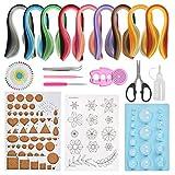 BUYGOO 19 piezas Kit de quilling de papel para principiantes Juego de quilling de papel con papeles de quilling de 900 tiras y herramientas de quilling para hacer quilling