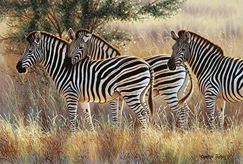Puzzel Voor Volwassenen 1000 Stukjes, Drie Gestreepte Groep, De Savannedier Van Afrika, 1500/1000/500/300 Stukjes, Puzzel Spelletjes Woondecoratie Cadeaus
