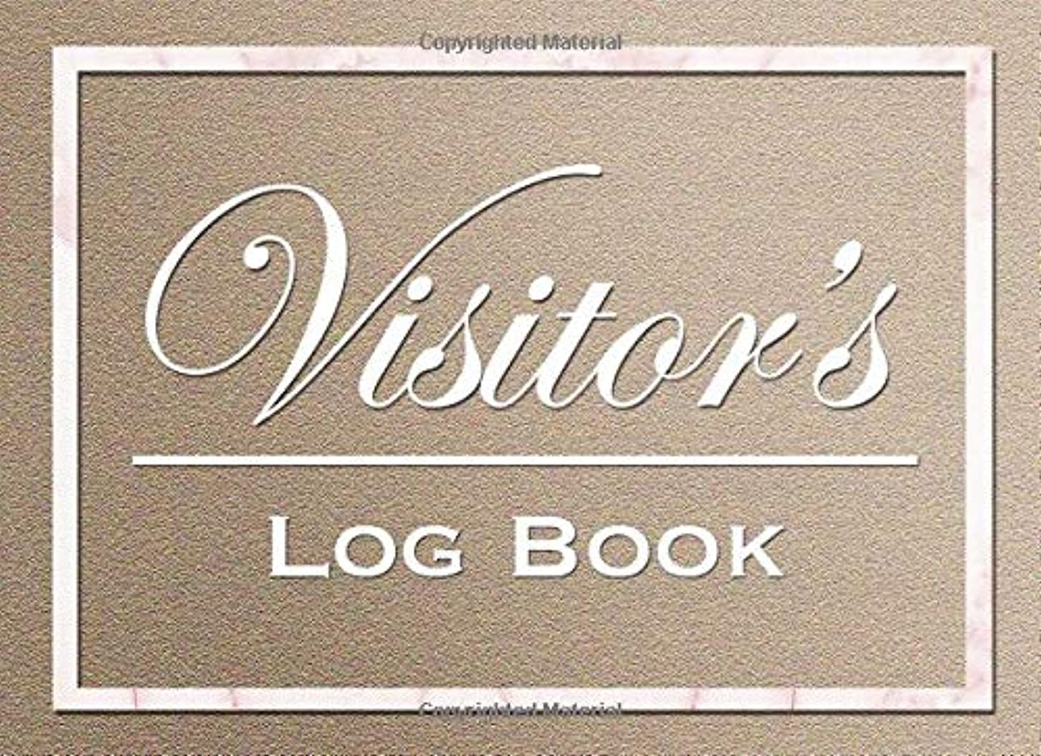 Visitor's Log Book: Elegant Visitor Record Sign-in Book for Business/Hotels/Guest Houses/Reception