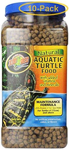 Zoo Med Natural Aquatic Turtle Food - Maintenance Formula (Pellets) 45 oz - Pack of 10