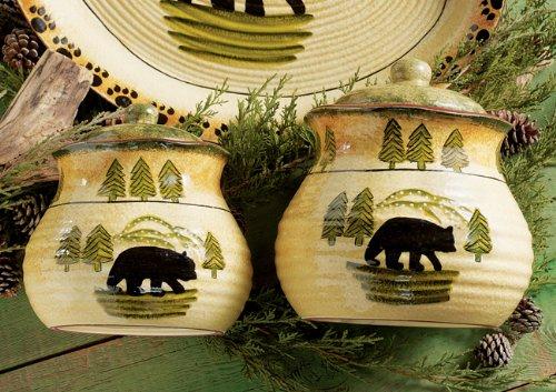 Black Bear Forest Cabin Canister Set