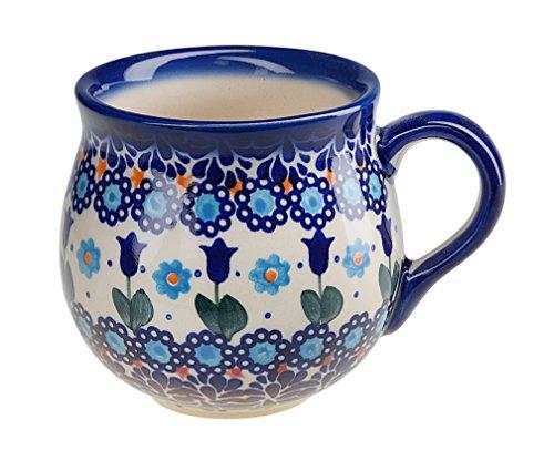 BCV Klassische handbemalte bunzlauer Keramik Becher groß, 500 ml, Barrel, dekore 525 (U-006, 500)