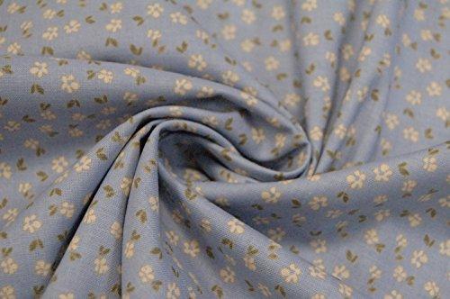 'Gütermann coton motif fleurs bleu