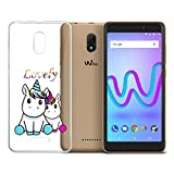 LJSM Funda Wiko Jerry 3 Carcasa Flexible Ultra Slim Transparente Crystal Clear Soft Silicona TPU Suave Caso Case Shell Cover para Wiko Jerry 3 (5.45') -WM138