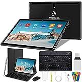 Tablet 10 Pulgadas 4G/WiFi Android 9.0 Pie Ultrar-Rápido Tablets 4GB RAM + 64GB ROM/256GB Escalable | Laptop Convertible de Oficina | Dual SIM - 8000mA Bluetooth GPS Type-C (5+8.0MP Cámara)(Negro)