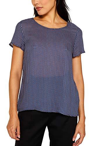 edc by ESPRIT Damen 069Cc1F015 Bluse, 400/NAVY, Medium (Herstellergröße: M)