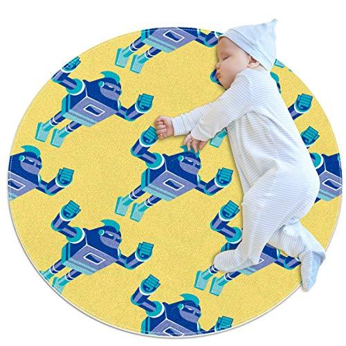 Alfombra de algodón para el suelo, no tóxica, antideslizante, lavable, para bebés, niñas, sala de estar, cama