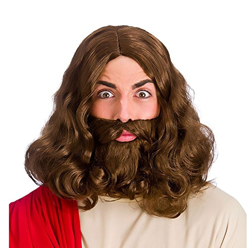 Wicked Costumes Jesus Christ Superstar Brown Wig & Beard Cos