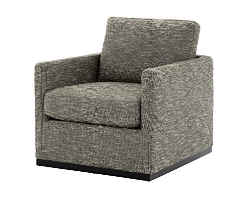 Signature Design by Ashley Grona Modern Swivel Accent Chair, Grayish Brown