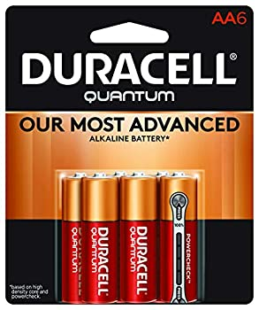 Duracell Quantum AA Alkaline Batteries - Long Lasting All-Purpose Double A battery for Household and Business - 6 count
