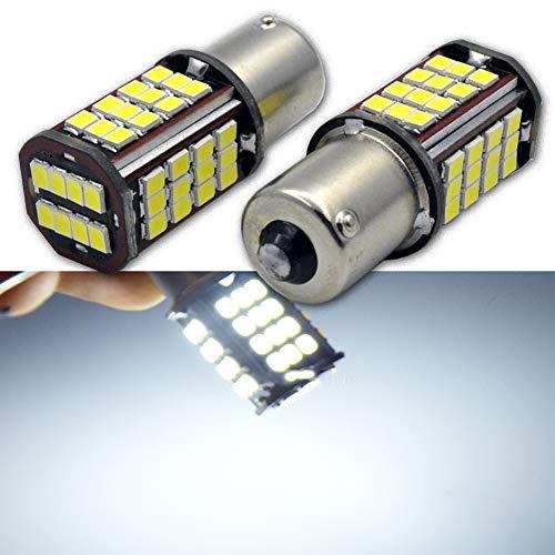 Ruiandsion Lot de 2 ampoules LED 1156 super lumineuses Blanc 6000 K 24 V 2835 56SMD LED de recul