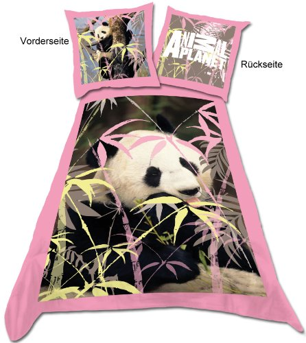 Belltex - Animal Planet parure de lit Panda 135 x 200 cm
