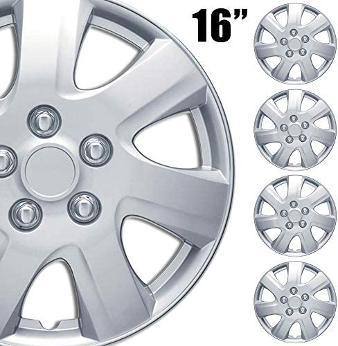 BDK 4 Pack Premium 16 Wheel Rim Cover Hubcaps OEM Style for Toyota Camry Style Replacement Snap product image