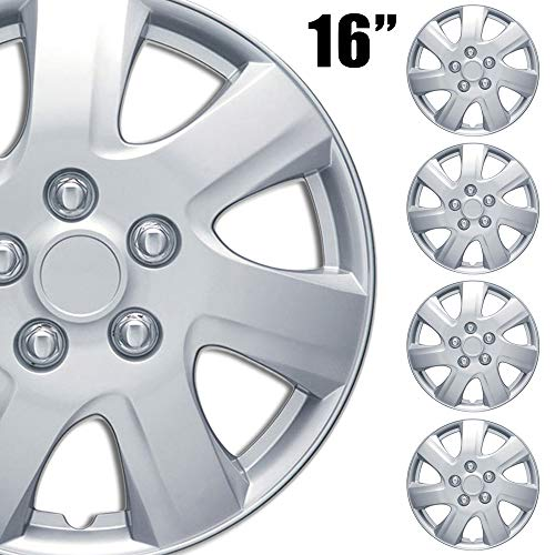BDK (4-Pack Premium 16'' Wheel Rim Cover Hubcaps OEM Style for Toyota Camry Style Replacement Snap On Car Truck SUV Hub Cap - 16 Inch Set (KT-1021-16_df)