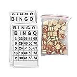 likeitwell Classic Bingo Cards, Bingo Board Game For Kids and Adults,Cartones De Bingo De Obturador con Hoja De 40 Cartas De Juego para Fiestas De Cumpleaños De Niños, Vacaciones O Reuniones Refined