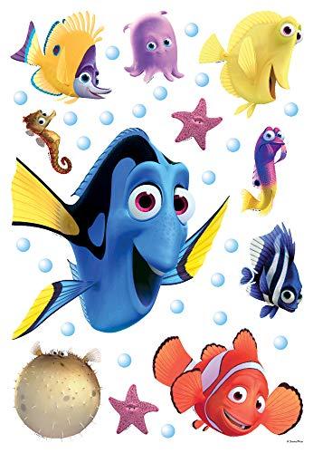 1art1 Findet Dorie - 2 Nemo and Friends Wand-Tattoo | Deko Wandaufkleber für Wohnzimmer Kinderzimmer Küche Bad Flur | Wandsticker für Tür Wand Möbel/Schrank 65 x 42 cm
