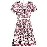 LaiYuTing Amazon Explosion Sommer Neue Damenbekleidung Europäische und amerikanische Sexy Deep Floral Holiday Beach Kleid Sommer 2020